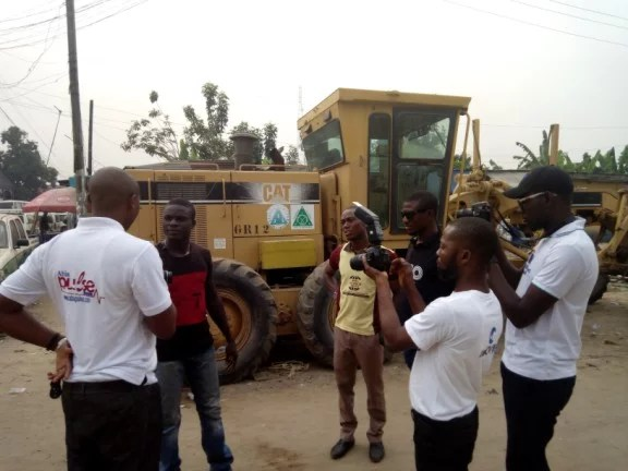 Abia OMPAN interviewing contractors on site of Aba road project