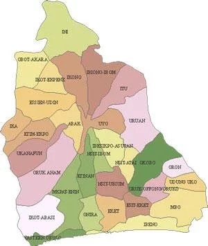 Map of Akwa Ibom State with details