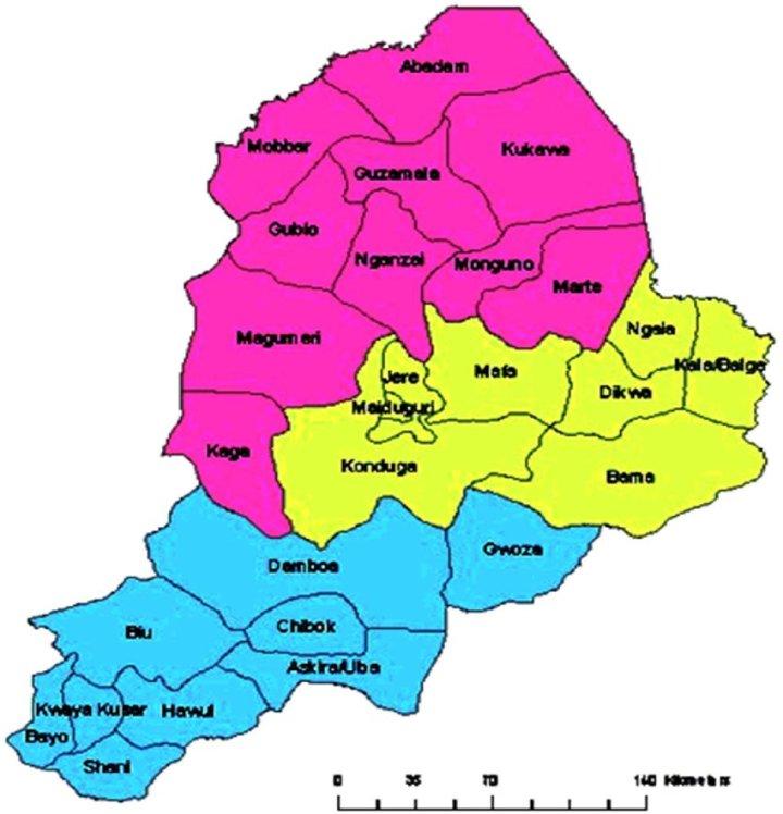 Map of Borno State