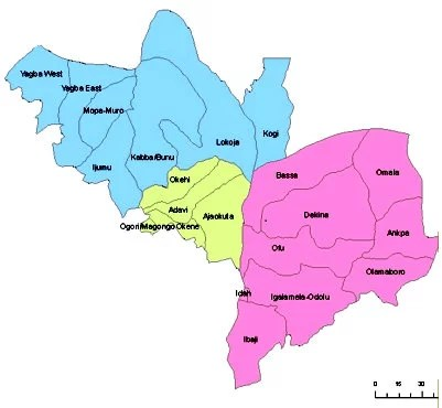 Map of Kogi State with details