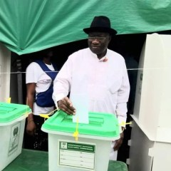 Bayelsa Governorship Election: Former President, Jonathan Cast His Vote in His Hometown