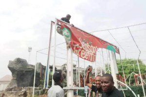 Billboard of Emeka Ihedioha turn down by some Imo youths