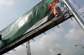 Imo Youths Tears Down Billboards of Ex Governor Emeka Ihedioha (Photo News)