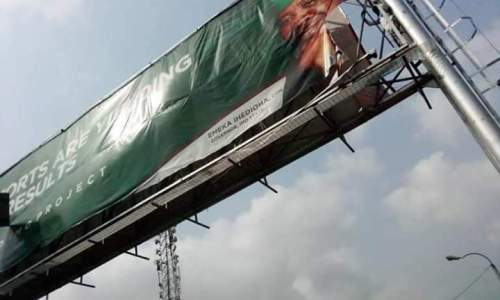 Imo Youths Tears Down Billboards of Ex Governor Emeka Ihedioha (Photo News)