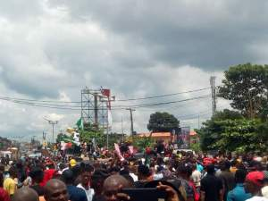 End SARS protesters in Abia state - Pic3