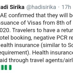 UAE Will Commence Issuance of Visa to Nigerians from October 8, 2020