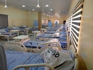 A ward inside the Abia Care Center