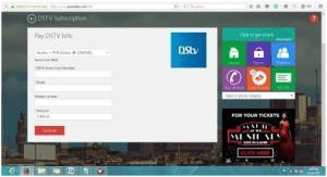 quickteller DSTV payment online