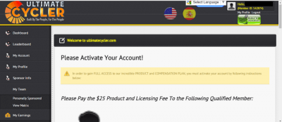 Ultimate Cycler Login Payment
