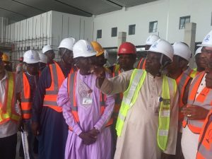 Managing director of FAAN explaining the layouts and structure of the new terminal to the Oversight Committee of the Senate in Abuja recently