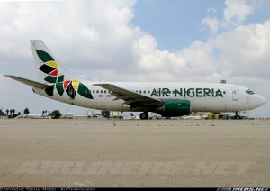 Air Nigeria Boeing 737-300 with registration number 5N-VNF