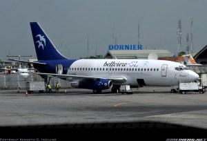 Bellview Airways Boeing 737-200 (T-43) Registration number FG-HXL