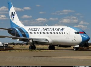 Nicon Airways Boeing 737-200 with Reg. ZS-SFX