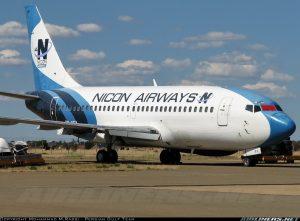 Nicon Airways Boeing 737-200 with Reg. ZS-SFX