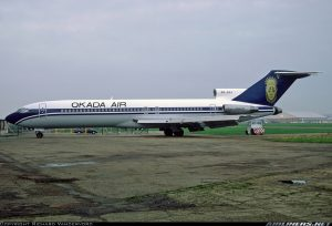 Okada Air Boeing 727-200 (C-22) with registrtion number 5N-GBA