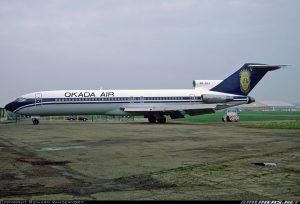 Okada Air Boeing 727-200 (C-22) with registrtion number 5N-GBA