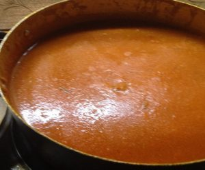 When boiling the sauce it gets thickened