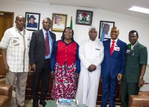 New ACI-Africa President Saleh Dunoma with some senior staff of the Federal Airports Authority of Nigeria (FAAN)
