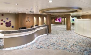 Spa Reception - Vitality at Sea Spa Harmony of the Seas - Royal Caribbean International
