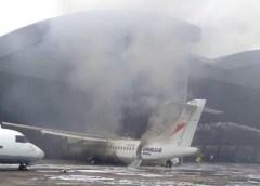 Fire damages Overland Airways aircraft undergoing routine maintenance in Lagos