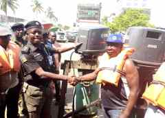 ATBOWATON presents 2  200 horse power boat engines to Lagos Marine Police