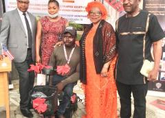 SV-NED Inc empowers youths with interest free loans, donates motorised wheel chair to crippled  engineer