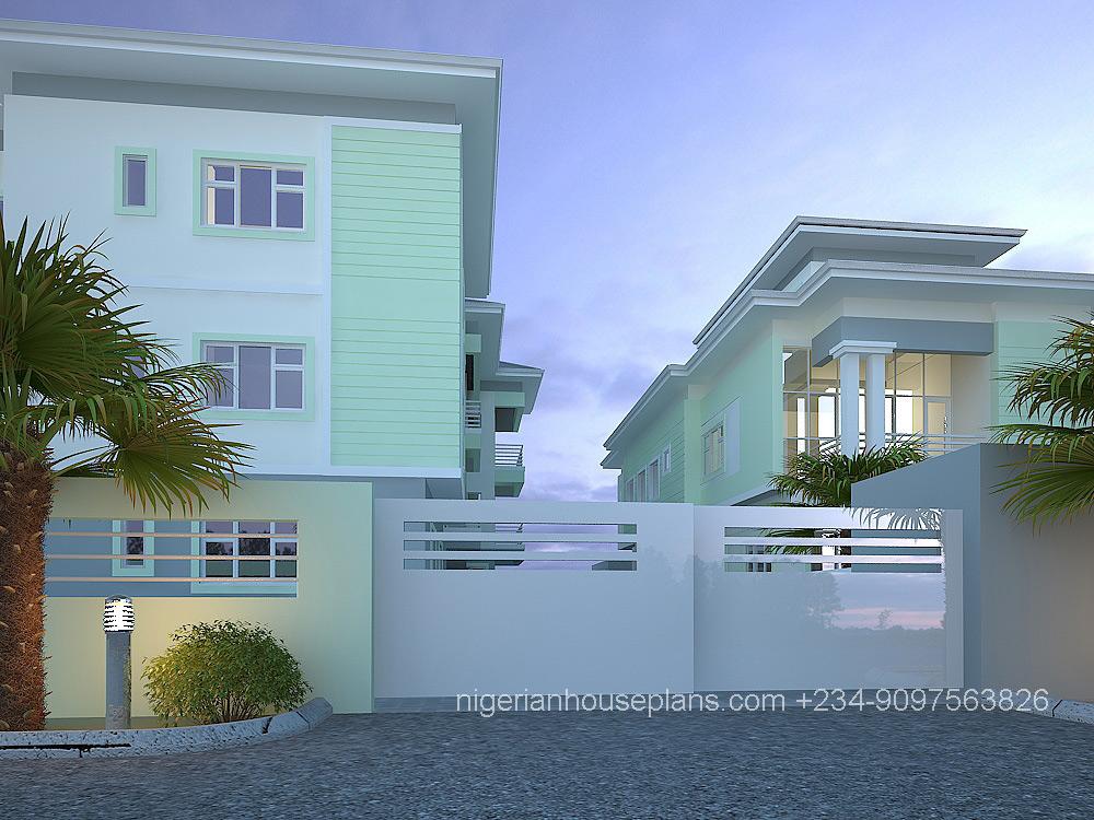 2  3 bedroom block of flats Ref 5012  NigerianHousePlans