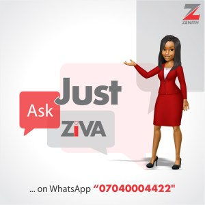 JustIn: #ZenithBank Makes More Inroad Into #Retail Banking With #ZIVA #ChatBot