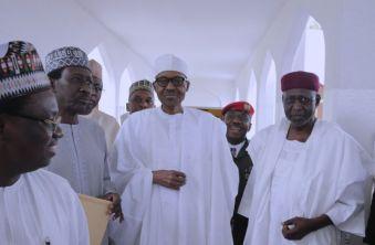 Buhari attends Friday prayers