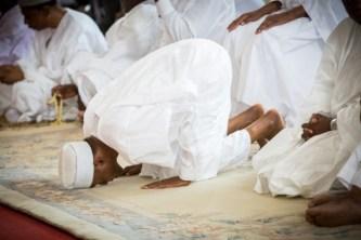 Buhari prays at Aso Villa mosque