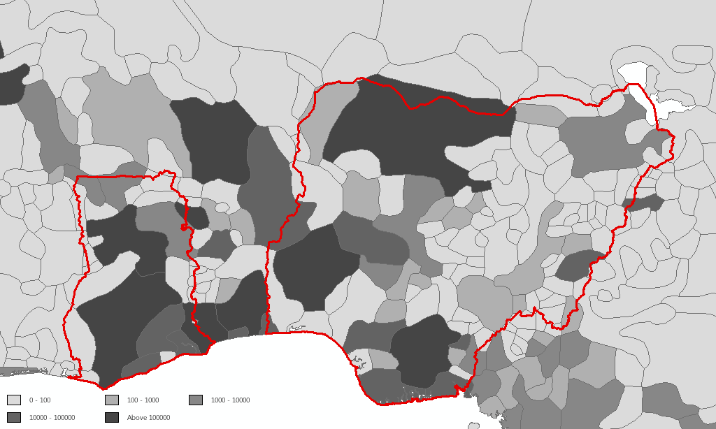 Slave Exports by Ethnic Groups in Nigeria and Ghana