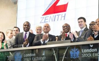 zenith bank stock price