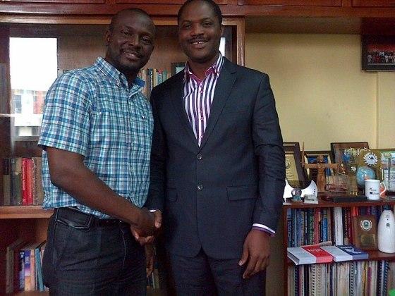 Debo Adejan and Prof. Nubi