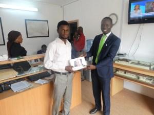 Mr. Bolaji Adejana & the second place winner