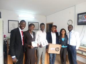 Winners and Media team