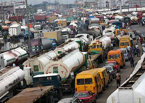 Traffic congestion is one of the trademarks of Lagos