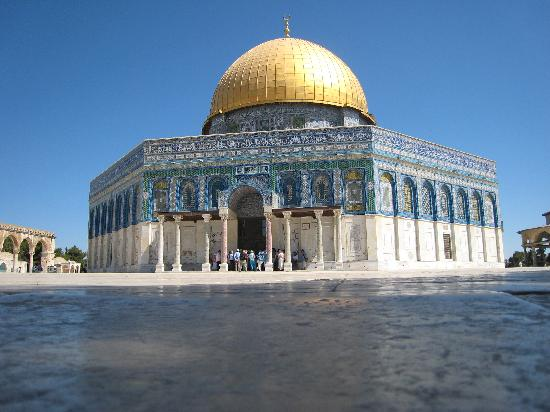 The dome of the rock; now one of the oldest piece of Islamic architecture - Jerusalem's most recognizable landmark