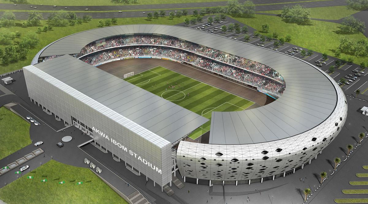 Image result for View of Godswill Akpabio stadium Uyo