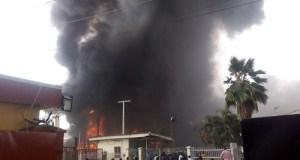 Fire destroys Sarafoam factory in Apapa