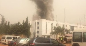 Institute of Human Virology Building Abuja Currently On Fire