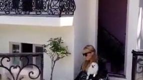 Paris Hilton shows off her dogs' luxury two-story mini mansion