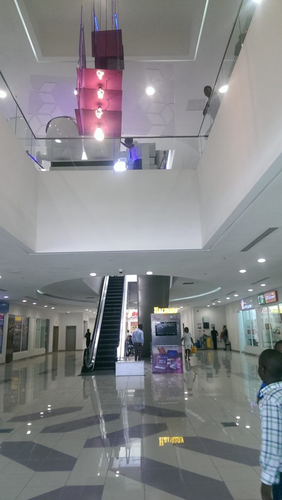 One of the elevators in the mall