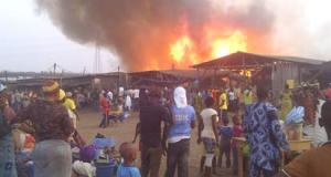 fire engulfs 35 shops in Ibadan