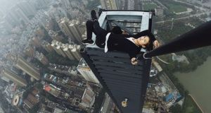 Chinese rooftop climber