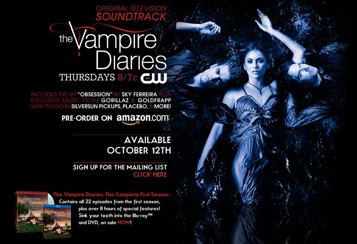 The Vampire Diaries Official Soundtrack Debuts October 12