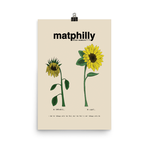 matphilly sunflower matte paper poster
