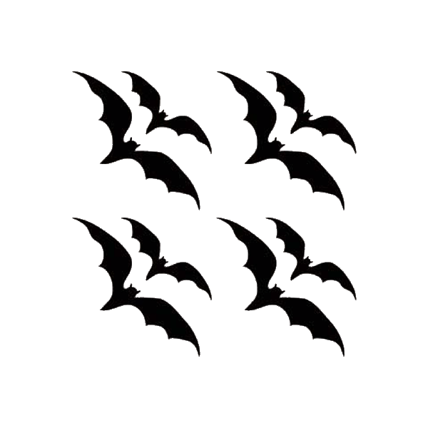 "Bats 4 1/2"" x 4 1/2"" reflective vinyl decal. Nightfire Patches®"