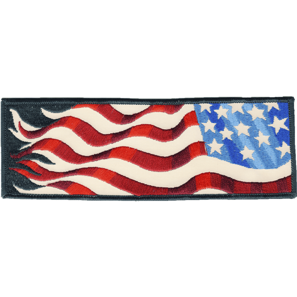 American Flag Right Armband reflective embroidered patch. Nightfire Patches®