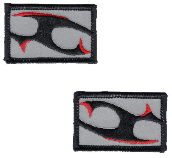 Tattoo Barbs reflective embroidered patch. Nightfire Patches®