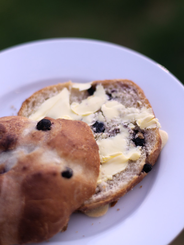 """Featured image for """"Blueberry Hot Cross Buns, Perfect Easter treat"""""""